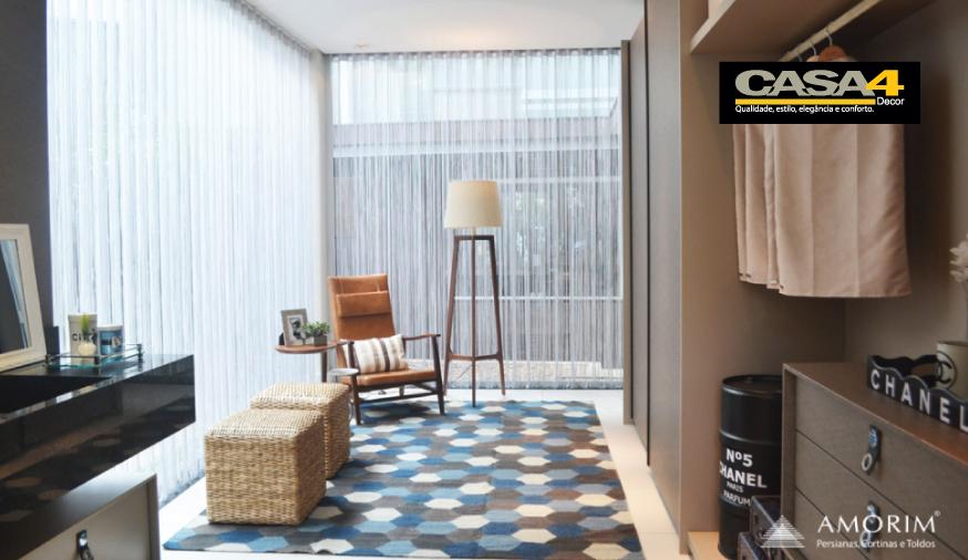 Tipos de pregas e trilhos das cortinas